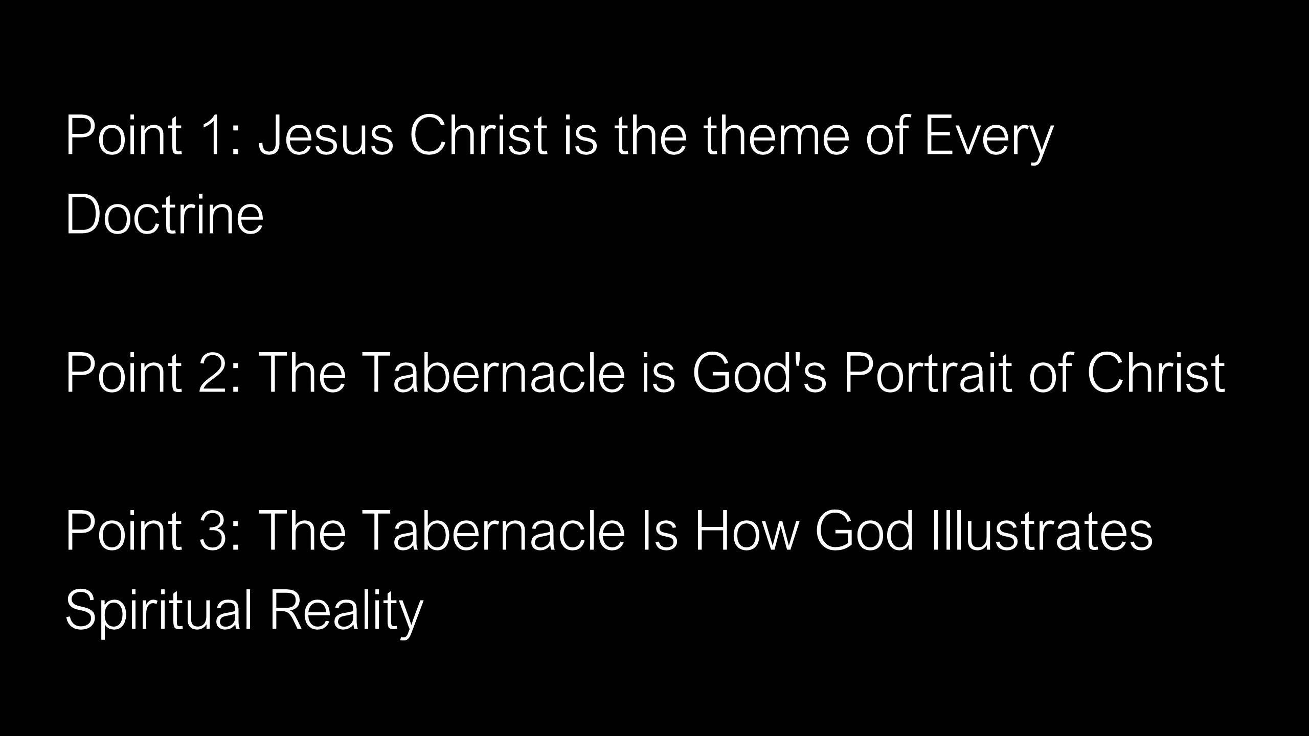 The Tabernacle - God's Doorway to Heaven for Sinners