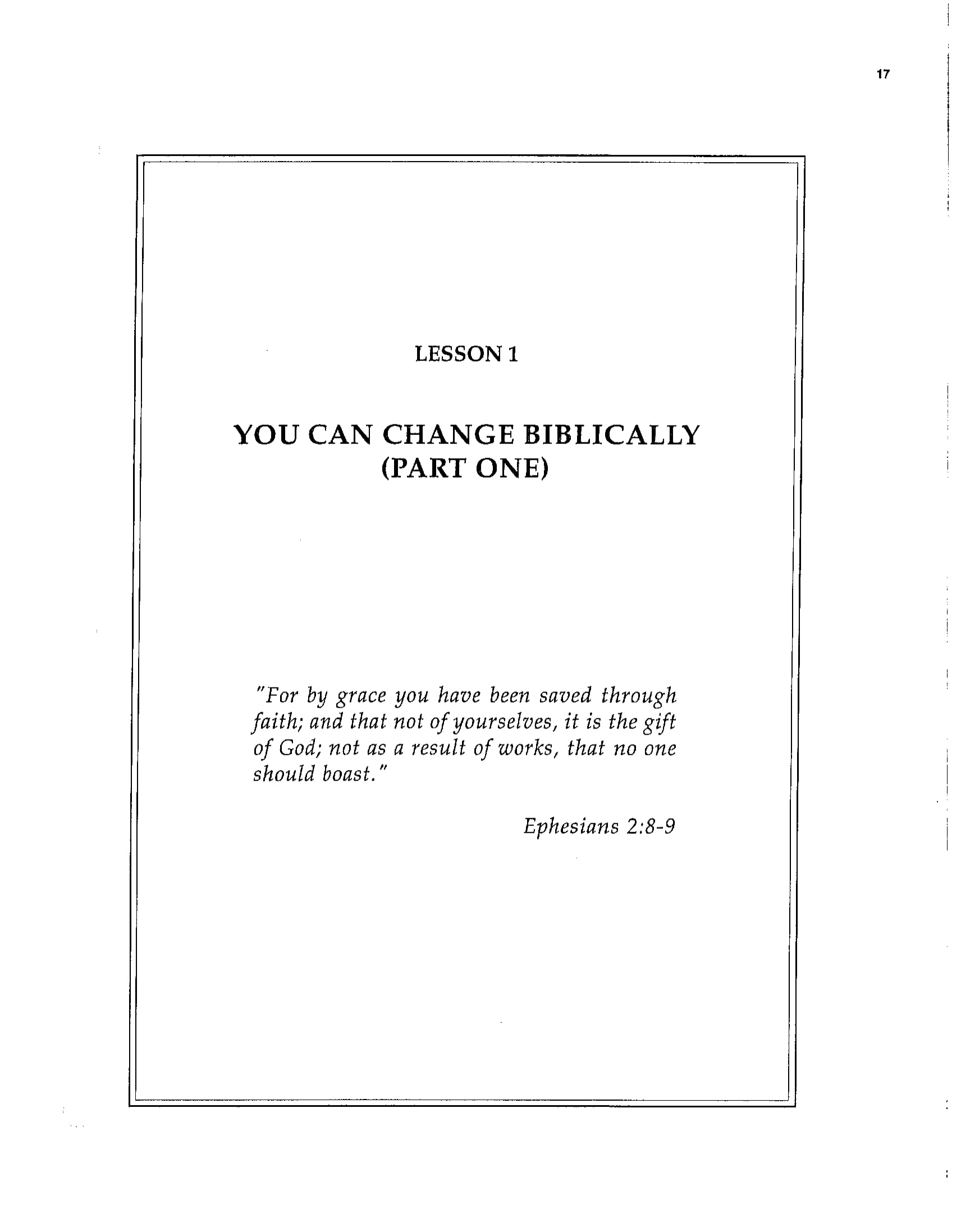 BC&D-02 - Lesson 1 - You Can Change Biblically 1 Work Book Page-01