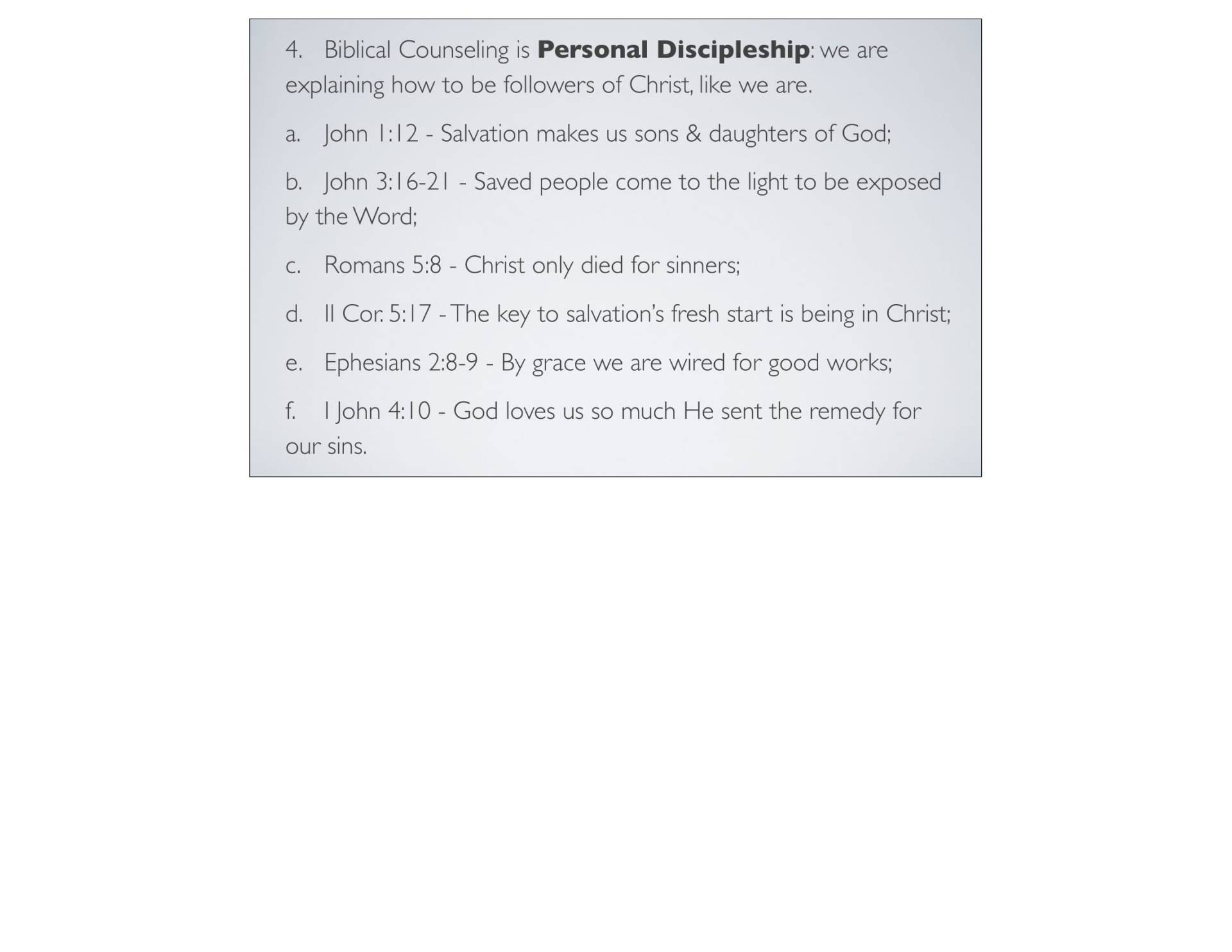 BC&D-06 - Foundations For Sanctification - Part 2-06