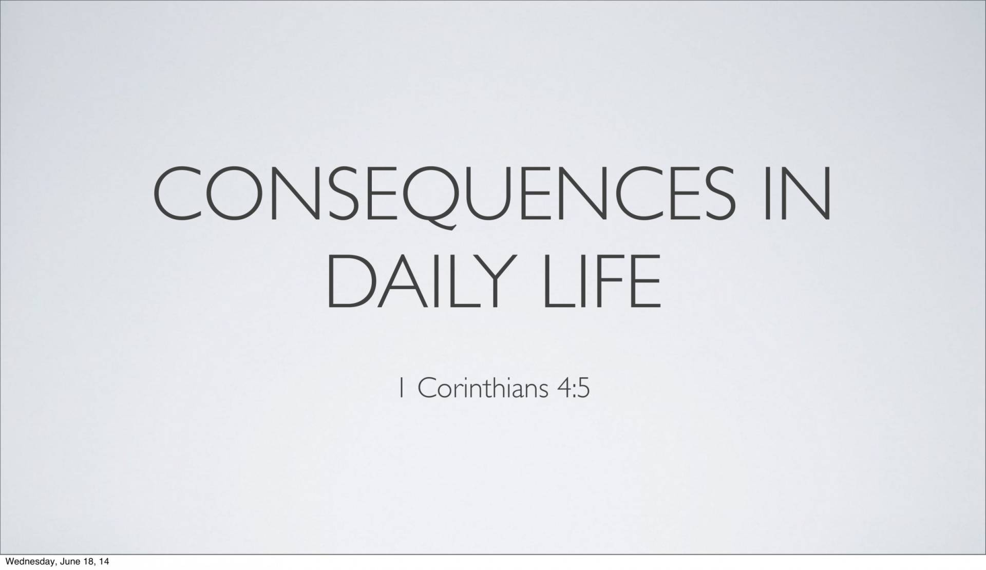 BC&D-14 - Lesson 5-1 - The Inescapable Consequences Of Sin-15
