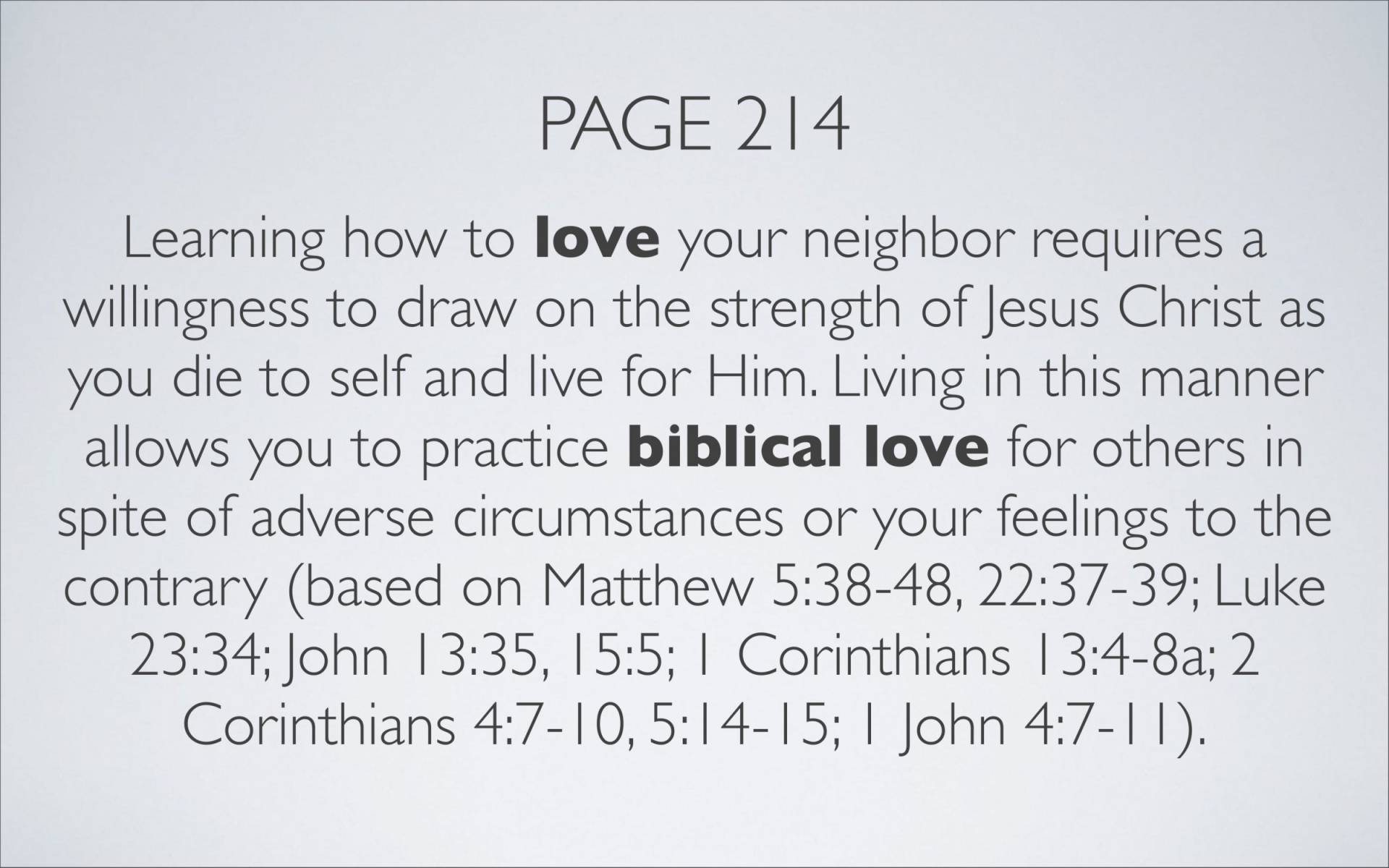 BC&D-35 - Lesson 13-3 - The Source Of The River Of Love That Flows Out Of Our Lives As Believers-17