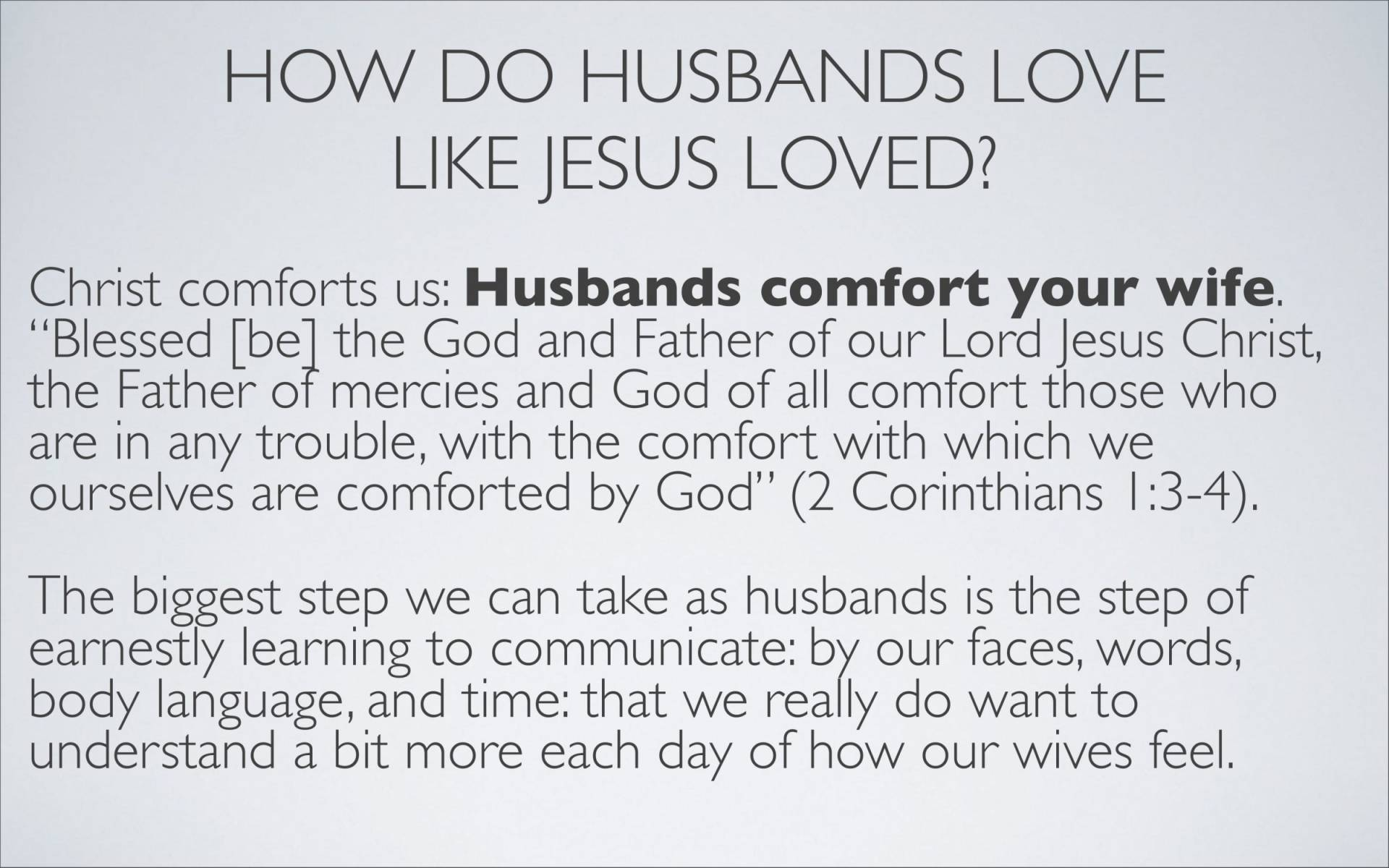 BC&D-37 - Lesson 15-1 - The Marriage Relationship - Husbands-27