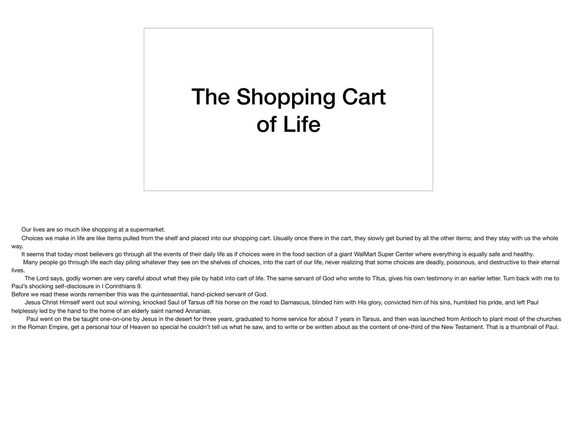LGI-03 - Ladies Watch Your Shopping Cart-13