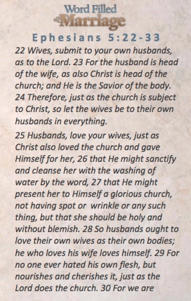 Word Filled Marriage Card Ephesians 5a