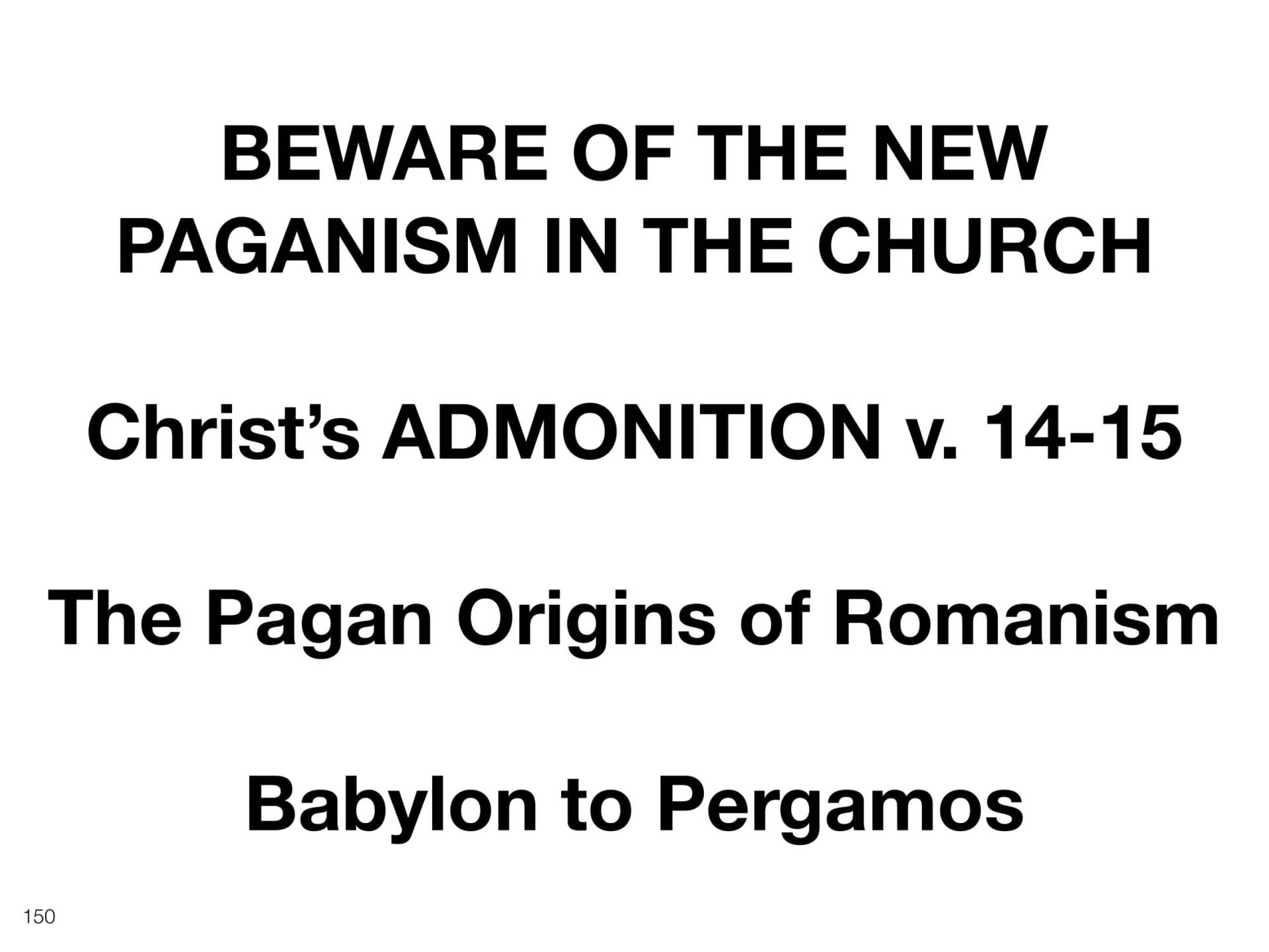 WOL2018 Hungary - 08 - Christ's Last Words To His Church - Satan's Religions, Paganism, & The E (11)