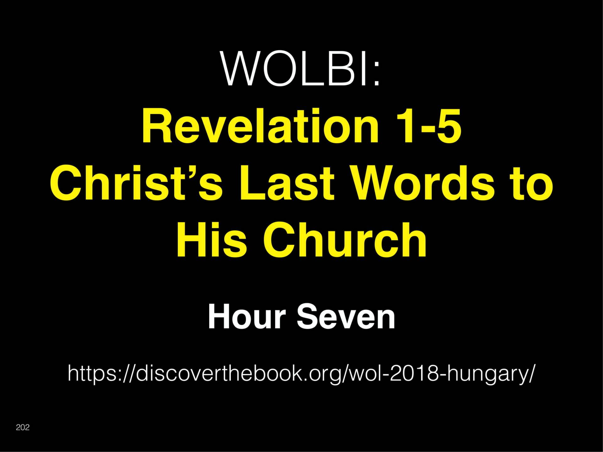 WOL2018 Hungary - 09 - Christ's Last Words To His Church - Where The Great Physic (36)