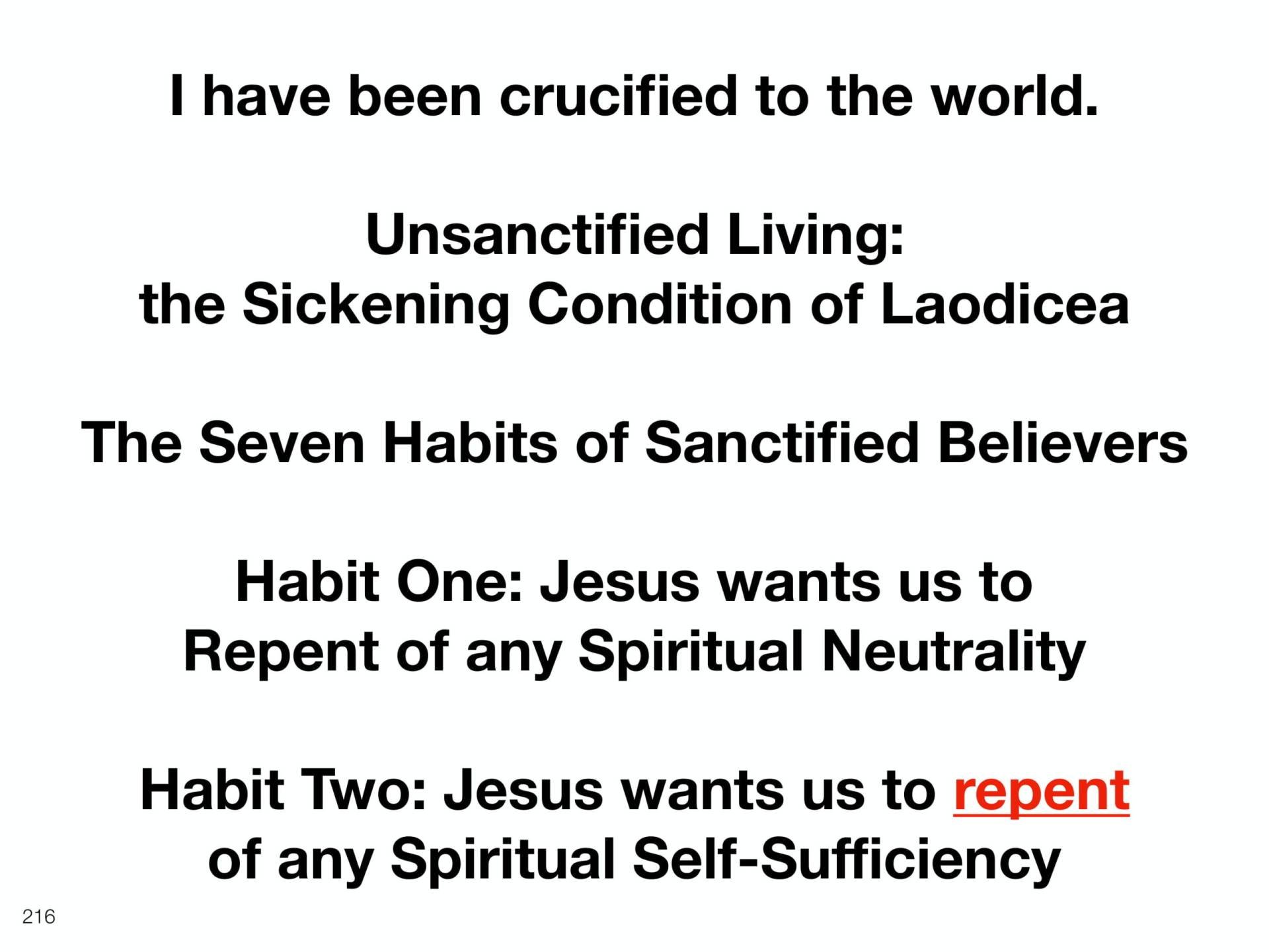 WOL2018 Hungary - 10 - Christ's Last Words To His Church - The Seven Habits of Sanctified Believers (6)