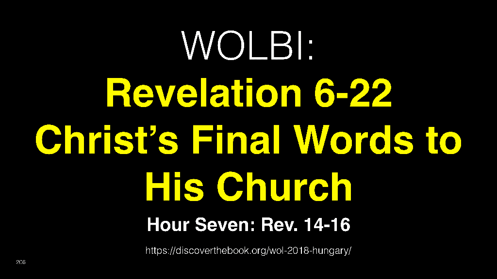 WOL2018 Hungary - 17 - Christ's Final Words To His Church - Satan & The Anti-Christ (10)