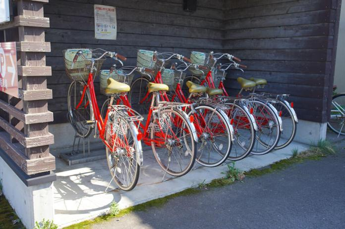 Renting a bicycle at JR Amarume Station to explore Shonai Town