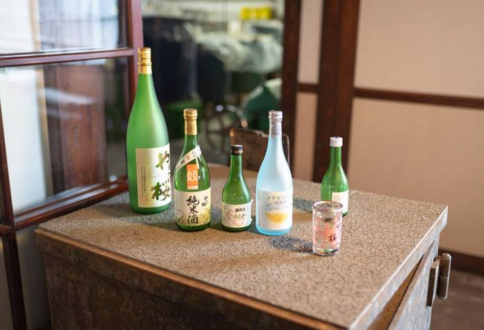 Yamato Sakura's sake brewery coming from water of Mogami River of Shonai