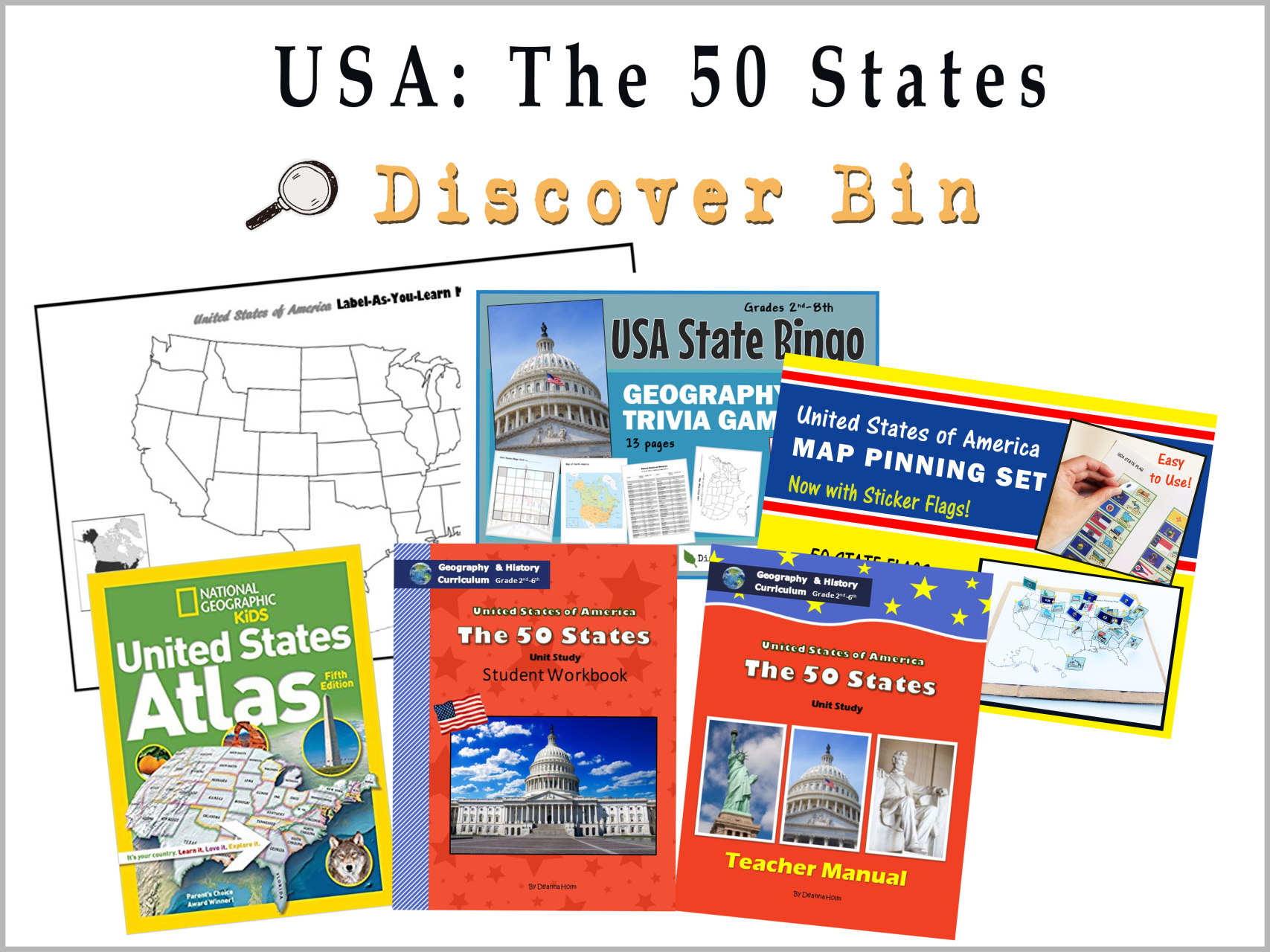 Usa The 50 States Geography Amp History Curriculum