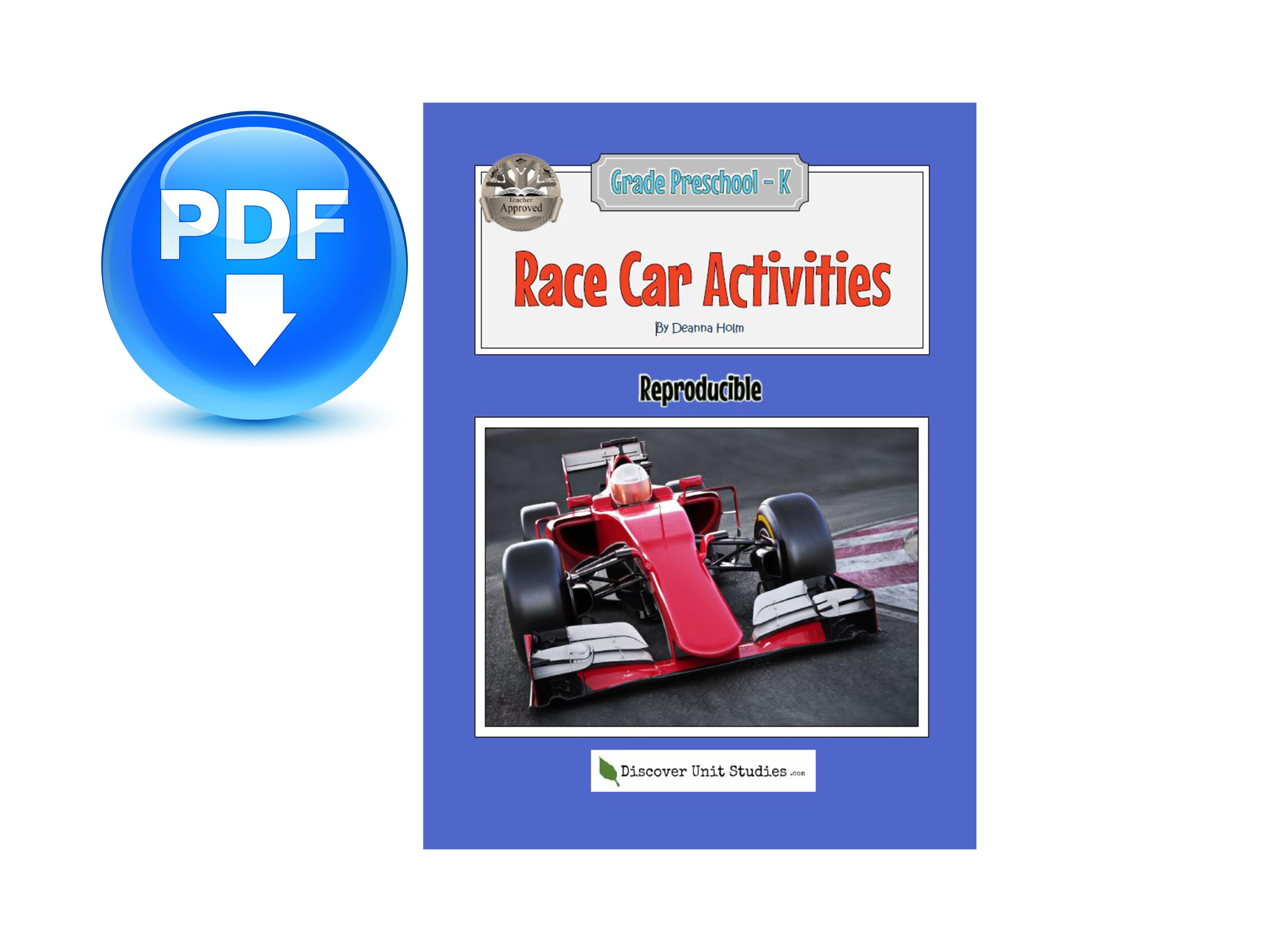Race Car Activities Download