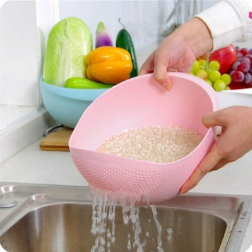 best latest kitchen gadgets on amazon India - Rice Pulses Fruits Vegetable Noodles Pasta Washing Bowl & Strainer
