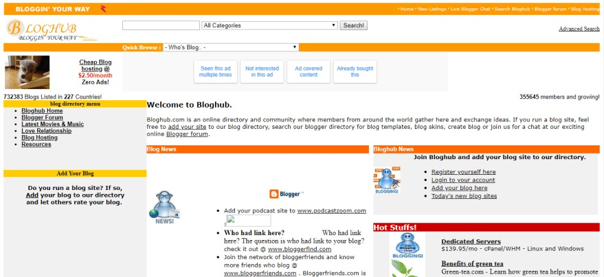 Bloghub Bloggers Community