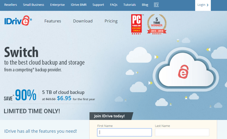 IDrive - Best and cheap online cloud drive storage