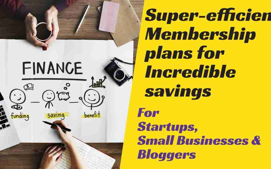 Incredible savings for small business, startups & bloggers with essential subscription plans