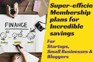 Membership plans for startups, small business and bloggers
