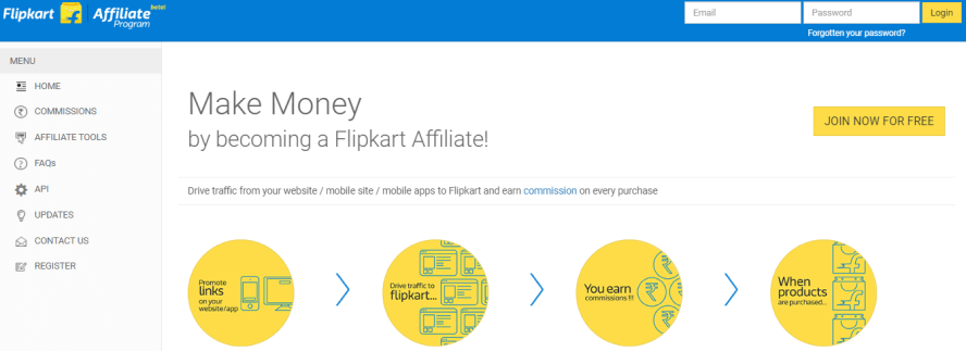 Flipkart  India affiliate program