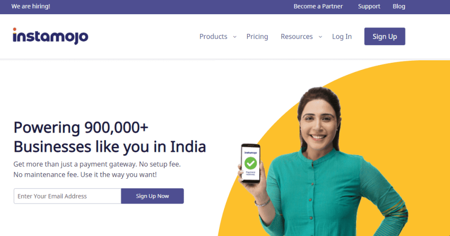 Instamozo - best payment gateway in india for small business