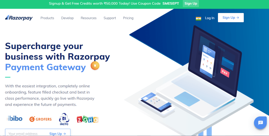 Razor Pay best payment gateway in india for small business