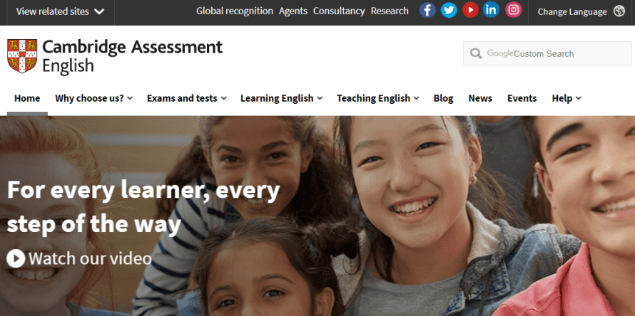 Cambridge Assessment English : Best English learning websites