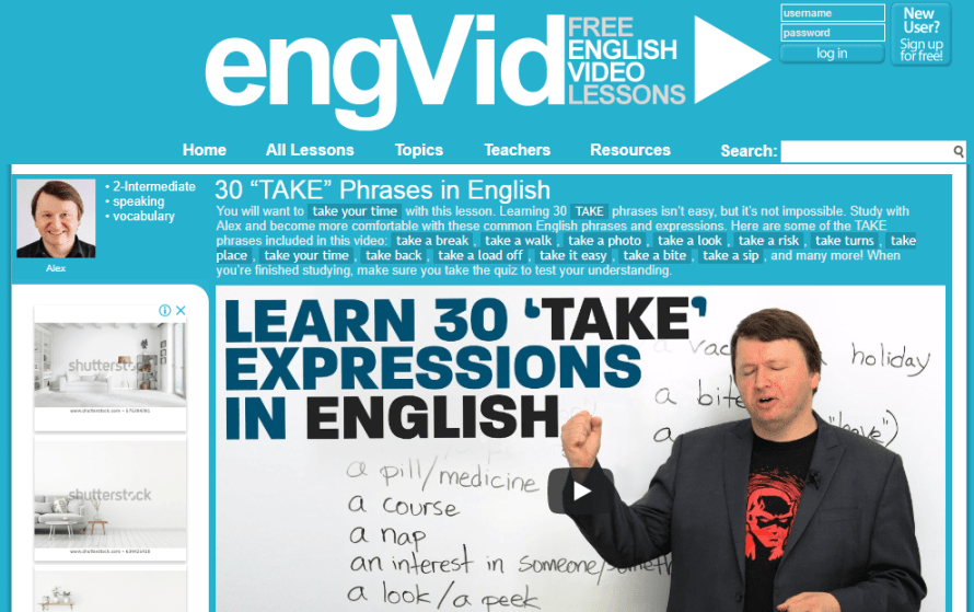 Engvid : Free English Video lessons