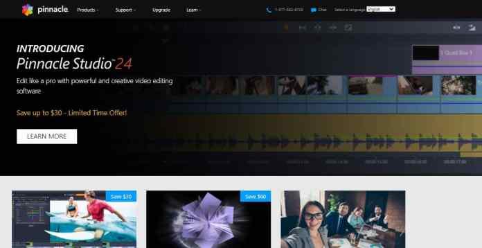Pinnacle Studio 24 - Cheap Video Editing Software
