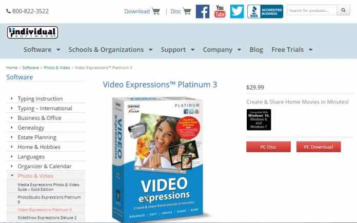 cheap video editing software under $50 - Video Expressions Platinum 3