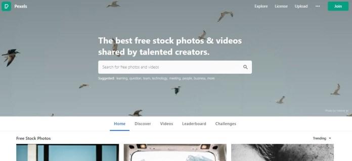 pexels as shutterstock similar sites