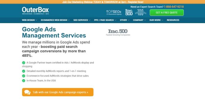 Google Ads Management Services by OuterBox