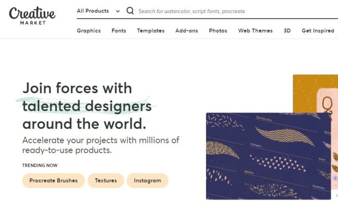 Best Creative Market Alternative and Competitors