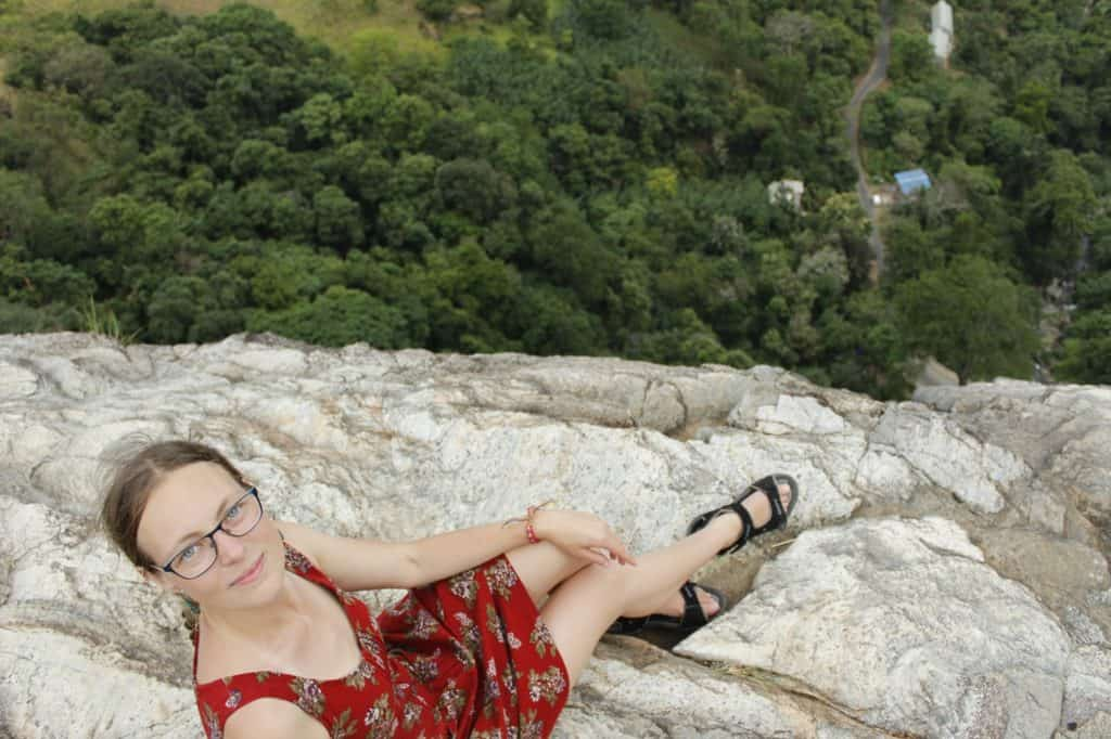 Diyaluma waterfall; living on the edge