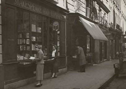 Shakespeare and Company book shop, Paris.