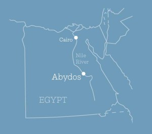 Map showing location of Abydos