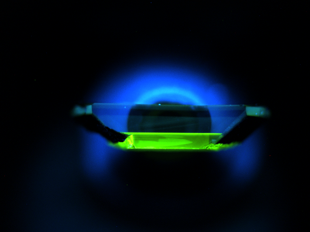 glowing quantum object