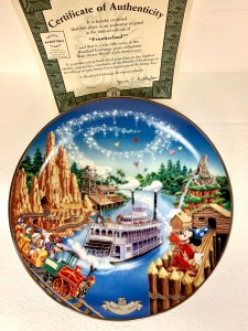 Frontierland Riverboat Disney Collectible Plate