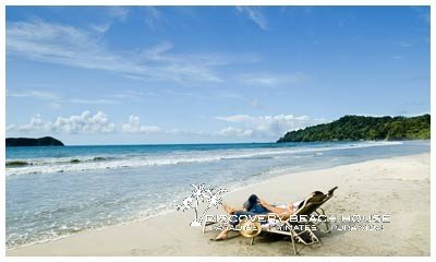 Imagine yourself on this beach, just steps from the back door of your vacation beach villa.