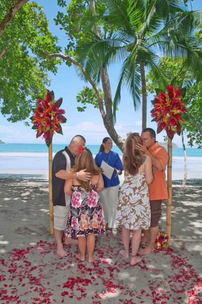 Dawn and Bill, Guy and Krista vow renewal