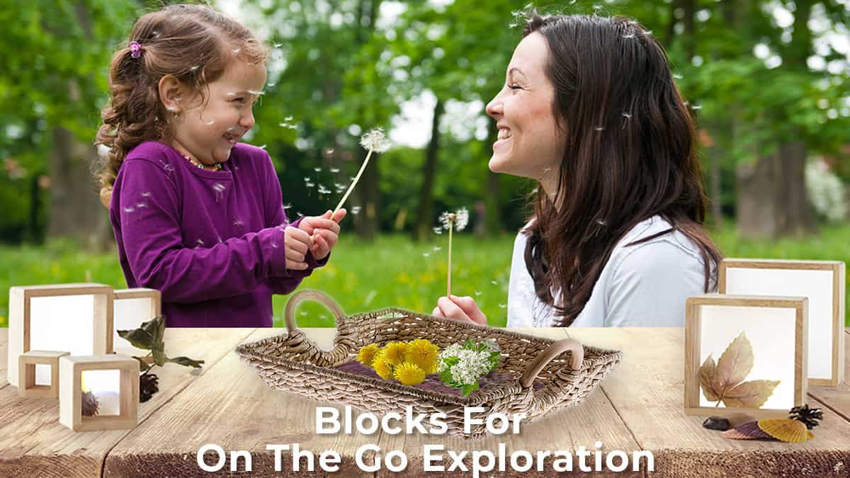 outside activities-blocks for on the go exploration-mother and daughter enjoying the outdoors with some wooden nesting blocks