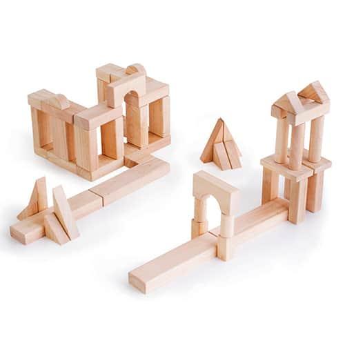 wooden building block for kids-guidecraft wooden unit blocks-2 large building samples