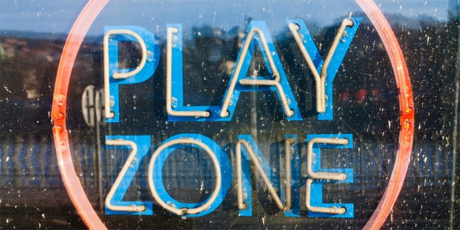 play and language development-play zone neon sign