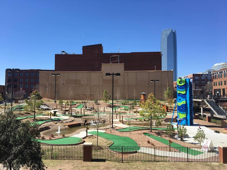 A Climbing tower in an urban development