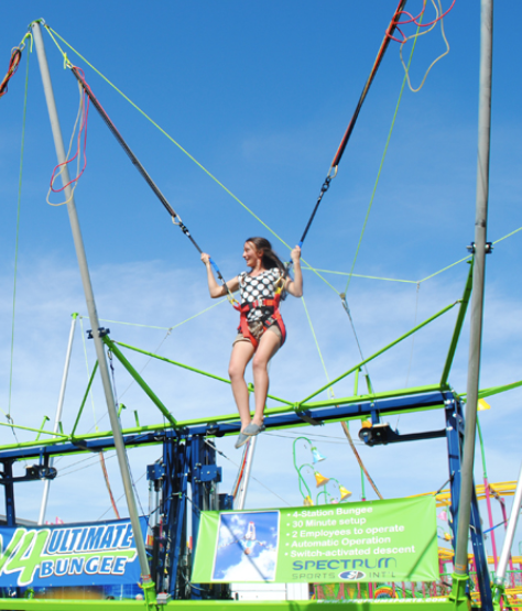 A lady on the V4 Ultimate Bungee
