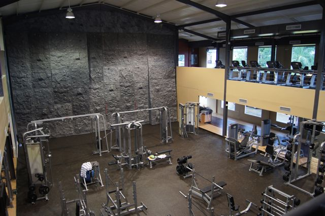 Rock Climbing Wall inside a gym