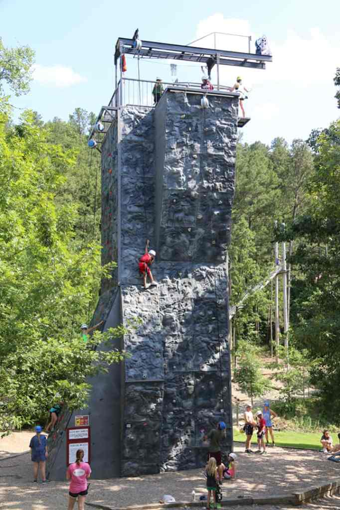 An Outdoor Rock Climbing Wall