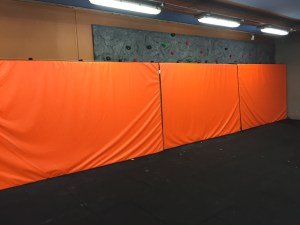 Bouldering Wall with matting