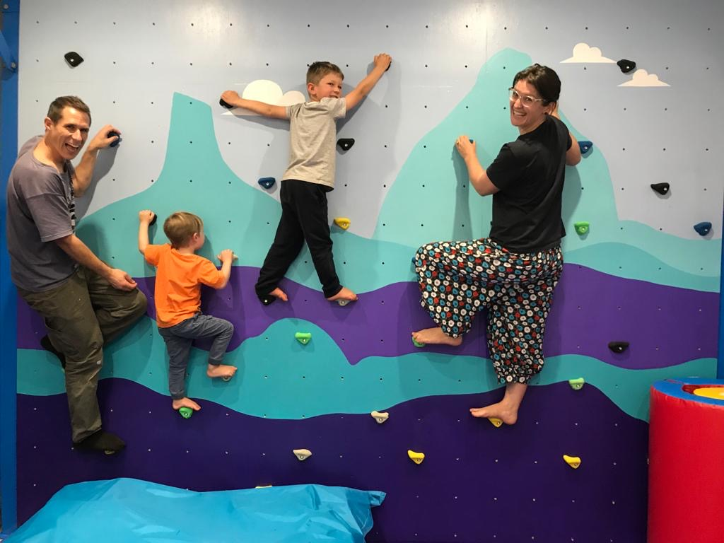 Indoor Bouldering Wall Family Climbing