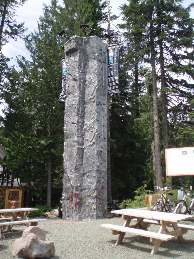 Outdoor Drop-A-Rock Climbing tower