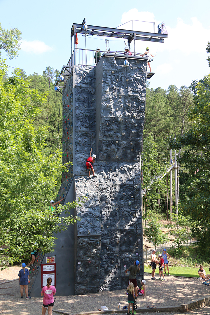 Outdoor Climbing Structure with abseiling tower