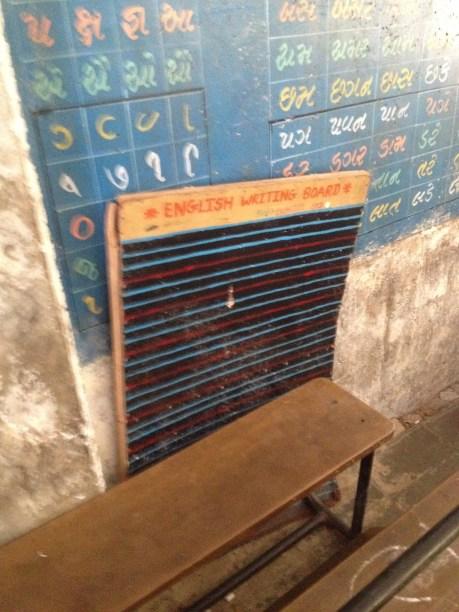 Multi-line chalkboard to practice proper English penmanship